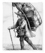 Peddler, 18th Century Fleece Blanket