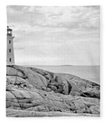 Peggy's Point Lighthouse Fleece Blanket
