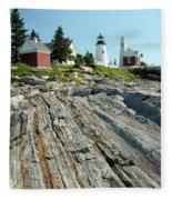 Pemaquid Point Lighthouse Fleece Blanket