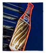 Pepsi Cola Bottle Fleece Blanket