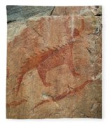 Petroglyph At Agawa Rock Fleece Blanket