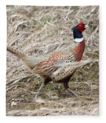 Pheasant Walking Fleece Blanket