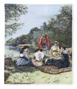 Picnic, 1885 Fleece Blanket