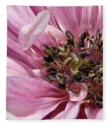 Pink Anemone From The St Brigid Mix Fleece Blanket