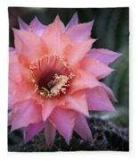 Pink Echinopsis Fleece Blanket