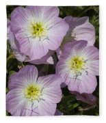 Pink Evening Primrose Wildflowers Fleece Blanket