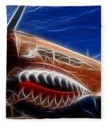 Plane Flying Tigers Fleece Blanket