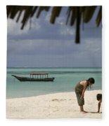Pongwe Beach Hotel  Fleece Blanket