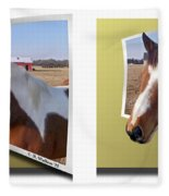 Pony Pose - Gently Cross Your Eyes And Focus On The Middle Image Fleece Blanket