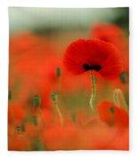 Poppy Flowers 01 Fleece Blanket