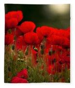 Poppy Flowers 05 Fleece Blanket