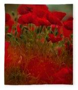 Poppy Flowers 06 Fleece Blanket by Nailia Schwarz