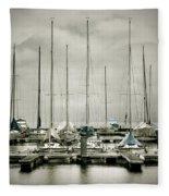 Port On A Rainy Day Fleece Blanket