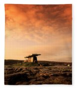 Poulnabrone Dolmen, The Burren, Co Fleece Blanket