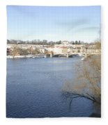 Prague Czech Republic Fleece Blanket