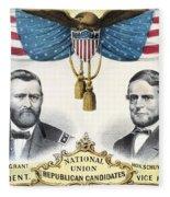 Presidential Campaign, 1868 Fleece Blanket