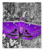 Purple Polyphemus Fleece Blanket