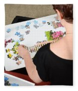 Puzzle Therapy Fleece Blanket