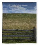 Rail Fence And Field Along The Blue Ridge Parkway Fleece Blanket