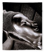 Reclining Buddha Fleece Blanket