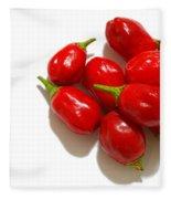 Red Peppers Fleece Blanket