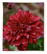 Red Petals Fleece Blanket