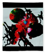 Red Spider Nebula Fleece Blanket