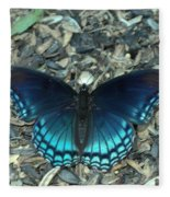 Red Spotted Purple Swallowtail Butterfly Fleece Blanket
