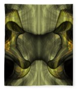 Reptilian - Green Fleece Blanket