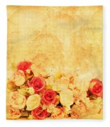 Retro Flower Pattern Fleece Blanket