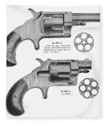 Revolvers, 19th Century Fleece Blanket