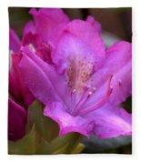 Rhododendron Bloom Fleece Blanket