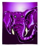 Ringo Party Animal Purple Fleece Blanket