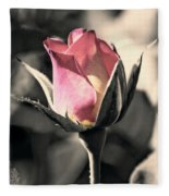 Rita Rosebud Pink Fleece Blanket