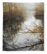 River In The Fog Fleece Blanket