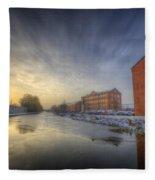 River Sunrise Fleece Blanket