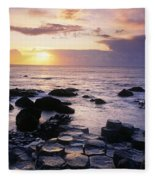 Rocks On The Beach, Giants Causeway Fleece Blanket
