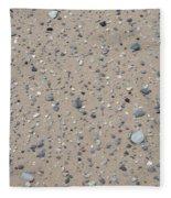 Rocks Sorted By The Wind Fleece Blanket
