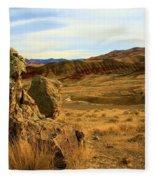 Rocky Painted Hills Fleece Blanket