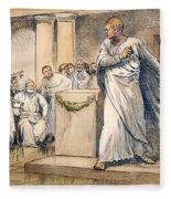 Roman Senate: Catiline Fleece Blanket