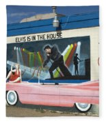 Route 66 Elvis Fleece Blanket