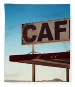 Roy's Cafe Fleece Blanket
