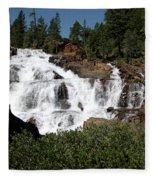 Running Water Glen Alpine Falls Fleece Blanket