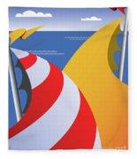 Sails Fleece Blanket