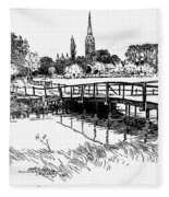 Salisbury Cathedral Fleece Blanket