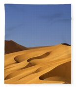Sand Dune Against Clear Sky Fleece Blanket