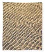 Sand Ripples In Shallow Water Fleece Blanket