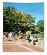 Saturday In The Park Fleece Blanket