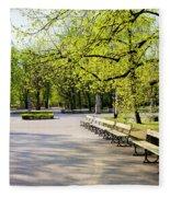 Saxon Garden In Warsaw Fleece Blanket