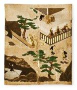 Scenes From The Tale Of Genji Fleece Blanket